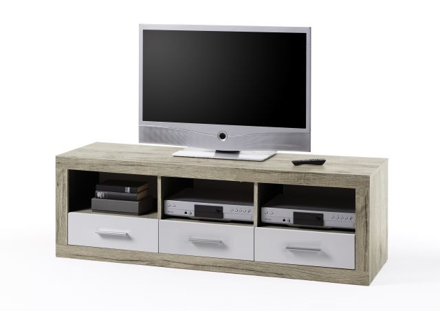 <p>TV-Lowboard in Nachbildung&nbsp&#x3B;San Remo hell/Wei&szlig&#x3B;<br />B/H/T: ca. 147x49x45 cm</p>