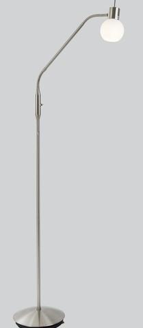 <p>Stehleuchte, inkl. LED Leuchtmittel<br />Farbe: Nickel matt<br />H&ouml&#x3B;he: ca. 145 cm</p>