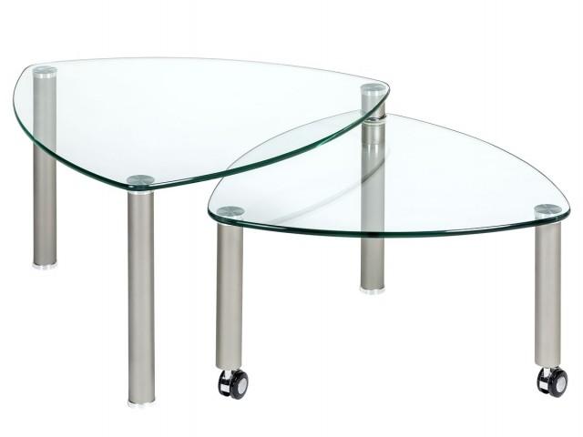 <p>F&uuml&#x3B;r jede Einrichtung den richtigen Couchtisch.</p><p>Abbildung:<br />Glastisch mit ausdrehbarer Ablage<br />B/H/T: ca. 80x43x80 cm</p>