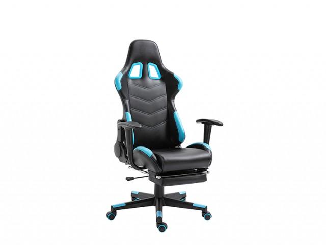 <p>Gamer-Drehstuhl in Textilleder schwarz-t&uuml;rkis, verstellbare R&uuml;ckenlehne 90&deg;-180&deg;, verstellbare/ausklappbare Fu&szlig;st&uuml;tze, belastbar bis 130kg, in weiteren Farbkombinationen erh&auml;ltlich</p>