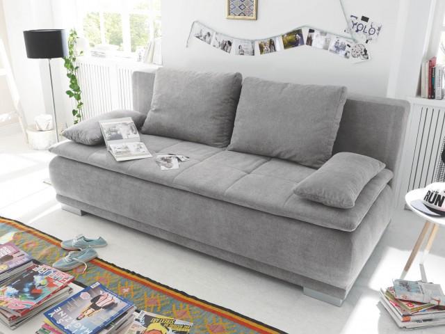 <p>Sofa mit G&auml;stebettfunktion und Bettkasten, inklusive Kissen, BHT 208x93x105cm, Liegefl&auml;che 162x207cm</p>